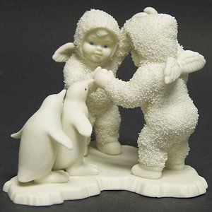 "Dept 56 Snowbabies ""Playing Games Is Fun"" 7947-2"